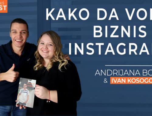 Ep 23 Andrijana Božić — Kako da vodiš biznis na Instagramu | Ivan Kosogor: Da, ti to možeš (Podcast)
